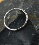 Dotted Half Eternity Band.