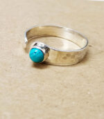 TurquoiseHammered Gypsy Ring.