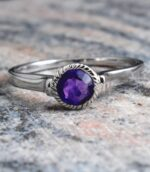 Natural Delicate Amethyst Ring.