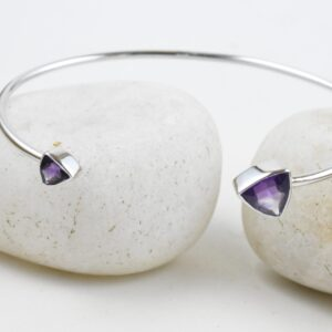 Trillion AmethystPurple Gemstone DivineBangle,