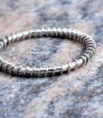Wire Wrapped Twist Ring.