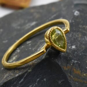 Peridot Green Handcrafted.