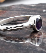 Amethyst Petite Silver Ring.