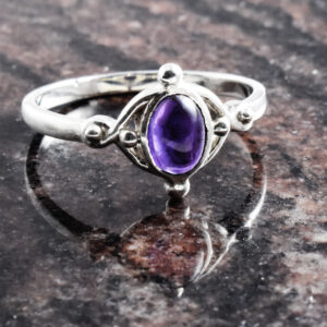 Amethyst Valentine Dot Ring.