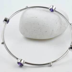 Amethyst Diamond Natural Divine Bangle.