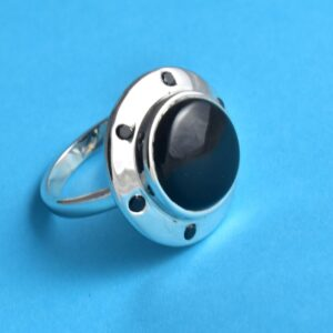 Sterling Silver Black Onyx,Handmade Onyx Unique Divine Ring.
