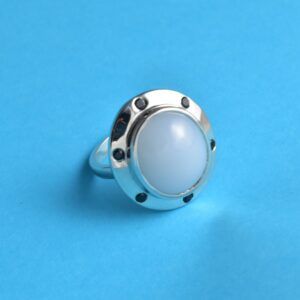 Moon Stone Black Onyx Divine Ring