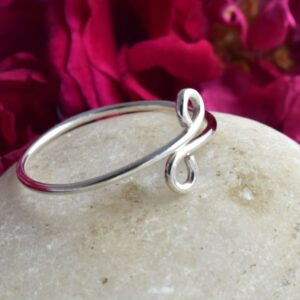 Adjustable Curly Handmade Swirl Ring.